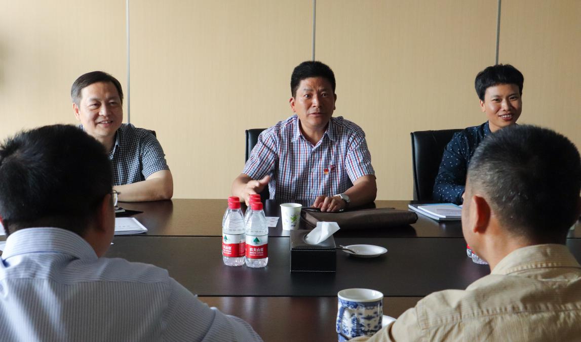 滨江区人大常委会、区公安局领导走访同城游,关心企业发展